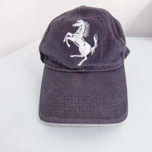 Ferrari hat, black, strapback